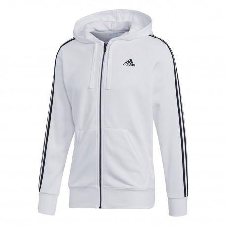 Adidas Essentials 3 Stripes Hoodie Férfi Felső (Fehér-Fekete) CE1920 ... 55ab229c33
