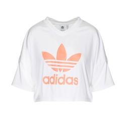 Adidas Originals Trefoil T-Shirt Női Póló (Fehér-Barack) CD6875