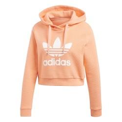 Adidas Originals Trefoil Cropped Hoodie Női Pulóver (Narancssárga) CD6879