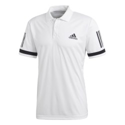 Adidas 3 Stripes Club Polo Férfi Galléros Póló (Fehér-Fekete) CE1415