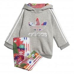 Adidas Originals Graphic Hoodie Set Kislány Bébi Együttes (Szürke-Színes) CY2289
