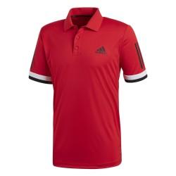 Adidas 3 Stripes Club Polo Férfi Galléros Póló (Piros-Fehér-Fekete) CD6669