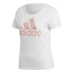 Adidas Foil Badge Of Sport Női Póló (Fehér-Rózsaszín) CV4562