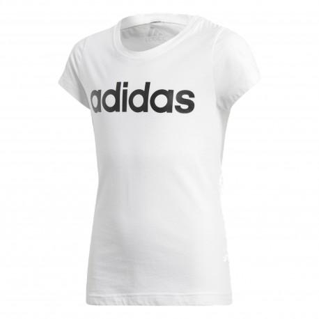 72ff7a9072 Adidas Young Girl Linear Tee Lány Gyerek Póló (Fehér-Fekete) BP8572