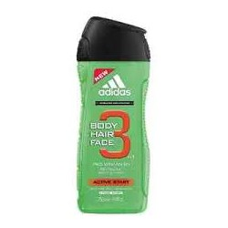 Adidas Body Hair Face 3 In 1 Pro Vitamin B5 Active Start Férfi Tusfürdő 726828