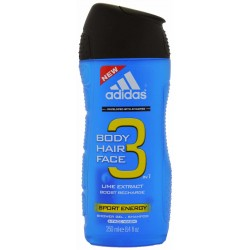 Adidas 3in1 Sport Energy  Férfi Tusfürdő 250 ml 320111