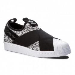 Adidas Originals Superstar SlipOn W Női Utcai Cipő (Fekete-Fehér) BY9141
