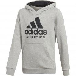 Adidas Young Boy SID Hoodie Fiú Gyerek Pulóver (Szürke-Fekete) CF6438