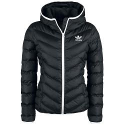 Adidas Originals Slim Jacket Női Kabát (Fekete-Fehér) BS5025