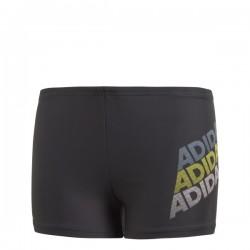 Adidas Young Boy Lin BX Fiú Gyerek Úszó Boxer (Fekete-Szürke-Sárga) CV5202
