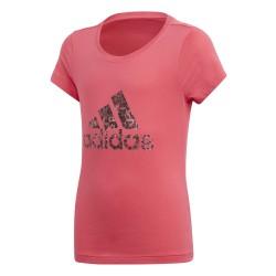 Adidas YG Logo Tee Lány Gyerek Póló (Rózsaszín) CF7254