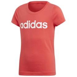 Adidas Essentials Linear Tee Lány Gyerek Póló (Rózsaszín-Fehér) CF7295