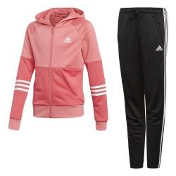 Adidas Young Girl HOOD PES Lány Gyerek Melegítő Együttes (Rózsaszín-Fekete) CF7309