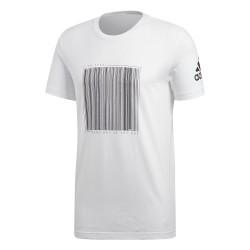 Adidas Barcode Tee Férfi Póló (Fehér-Fekete) CV4527
