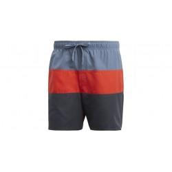 Adidas Colorblock Swim Shorts Férfi Úszó Short (Szürke-Piros-Fekete) CV5176