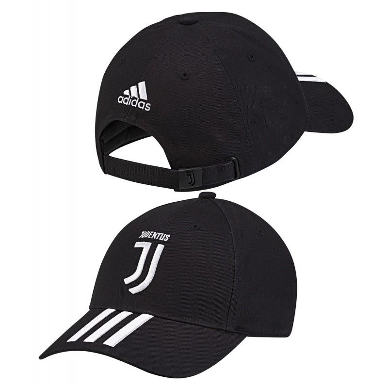 Adidas Juventus 3 Stripes Cap Baseball Sapka (Fekete-Fehér) CY5558 b902778c34