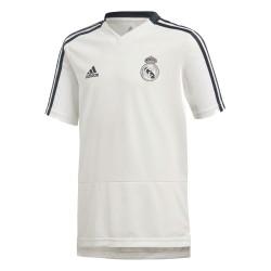 Adidas Real Madrid Training Jersey Fiú Gyerek Póló (Fehér-Fekete) CW8667