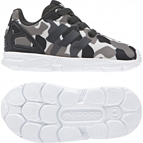Adidas Originals ZX FLUX EL I Kisfiú Gyerek Cipő (Fekete-Fehér) AQ1744 3805da696f