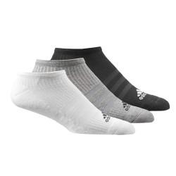 Adidas 3 Stripes No Show Socks 3P 3 Páras Zokni (Fehér-Fekete-Szürke) AA2281