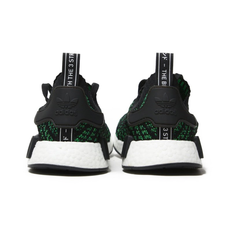 Adidas Originals NMD R1 Férfi Cipő (Zöld Fekete Fehér) AQ0936
