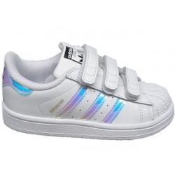 Adidas Originals Superstar CF I Kislány Gyerek Cipő (Fehér-Lila-Kék) AQ6280