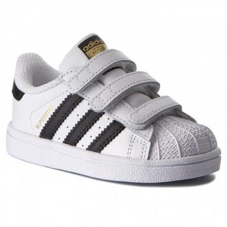 Adidas Originals Superstar CF I Kisfiú Gyerek Cipő (Fehér-Fekete) BZ0418 780c5e3de7