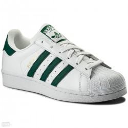 Adidas Originals Superstar Férfi Utcai Cipő (Fehér-Sötétzöld) CM8081