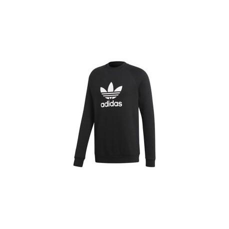 Adidas Originals Trefoil Warm Up Crew Herren Férfi Pulóver (Fekete-Fehér) CW1235
