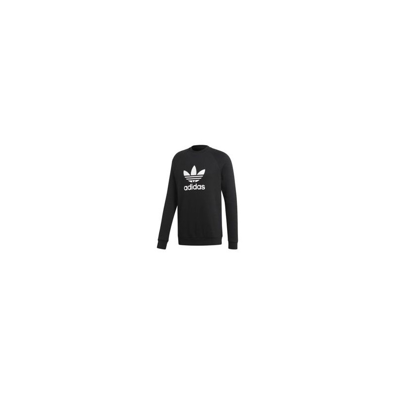 Adidas Originals Trefoil Warm Up Crew Herren Férfi Pulóver (Fekete Fehér) CW1235