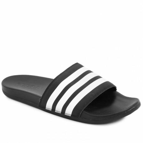 Adidas Adilette Cloudfoam Plus Stripes Slides Férfi Papucs (Fekete-Fehér)  AP9971 ee845f5ef