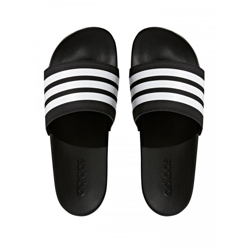 Adidas Adilette Cloudfoam Plus Stripes Slides Férfi Papucs (Fekete-Fehér)  AP9971 86aa5e3ff3