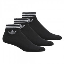Adidas Originals Trefoil Ankle Socks 3 P 3 Páras Zokni (Fekete-Fehér) AZ5523