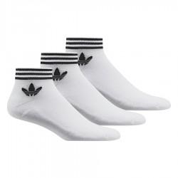 Adidas Originals Trefoil Ankle Socks 3 P 3 Páras Zokni (Fehér-Fekete) AZ6288