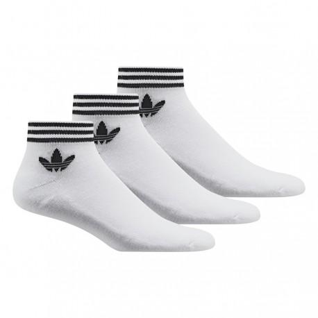 619e7529d8 Adidas Originals Trefoil Ankle Socks 3 P 3 Páras Zokni (Fehér-Fekete) AZ6288