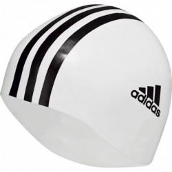 Adidas Silicone 3 Stripes Cap 1pc Úszósapka (Fehér-Fekete) 802309