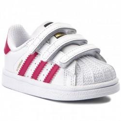 Adidas Originals Superstar CF I Kislány Gyerek Cipő (Fehér-Rózsaszín) BZ0420