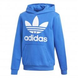 Adidas Originals Trefoil Hoodie Fiú Gyerek Pulóver (Kék-Fehér) CD6504