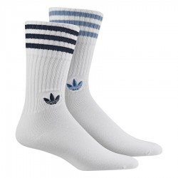 Adidas Originals Solid Crew 2P 2 Páras Zokni (Fehér-Kék) CE5711