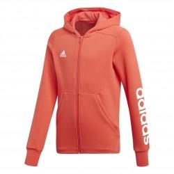 Adidas YG Linear FZ Hoodie Lány Gyerek Felső (Korall-Fehér) CF7239