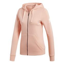 Adidas Essentials Solid FZ Hoodie Női Felső (Rózsaszín) CZ5723