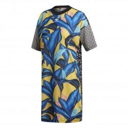 Adidas Originals Tee Dress Női Ruha (Kék-Sárga) DH3057