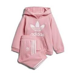 Adidas Originals Infants Trefoil Hoodie Bébi Melegítő Együttes (Rózsaszín-Fehér) D96069