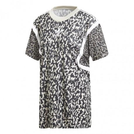 Adidas Originals Leoflage Oversize Trefoil Tee Női Hosszított Póló (Fekete- Fehér) DX4310 f7b061362b