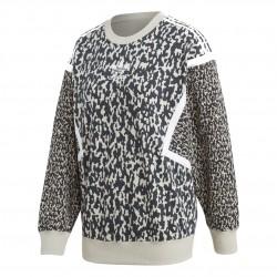 Adidas Originals Leoflage CREW Női Pulóver (Fekete-Fehér-Bézs) DX6022