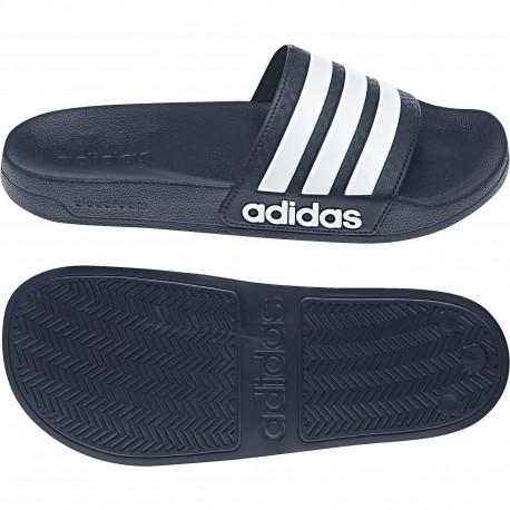f4ad25a36b Adidas Adilette Cloudfoam Slides Unisex Papucs (Sötétkék-Fehér) AQ1703