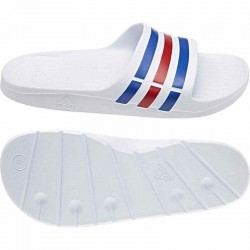 Adidas Duramo Slide Férfi Papucs (Fehér-Kék-Piros) U43664