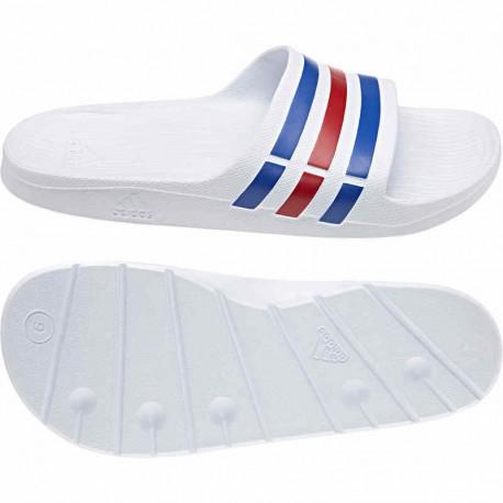 Adidas Duramo Slide Férfi Papucs (Fehér-Kék-Piros) U43664 a76ece06a9