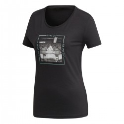 Adidas Performance Mood Tee Női Póló (Fekete-Szürke) DJ1599