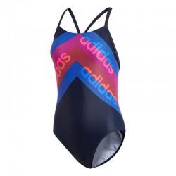 Adidas FIT 1PC LIN Női Úszó Dressz (Kék-Színes) CV3603