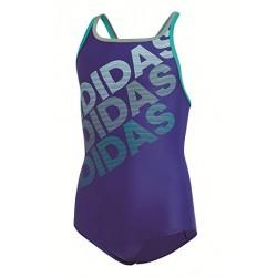 Adidas YG 1PC LIN Lány Gyerek Úszó Dressz (Lila-Zöld) DM2965